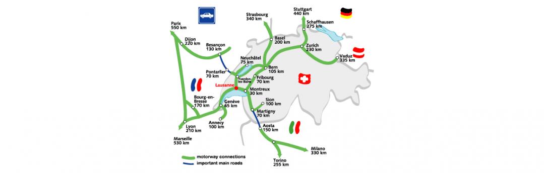 Access to Lausanne Lausanne Tourisme