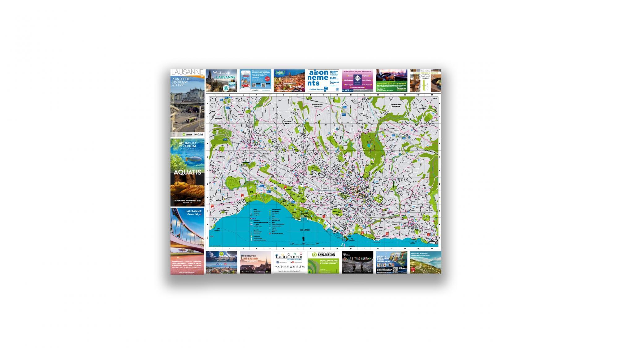 Street map Lausanne Tourisme