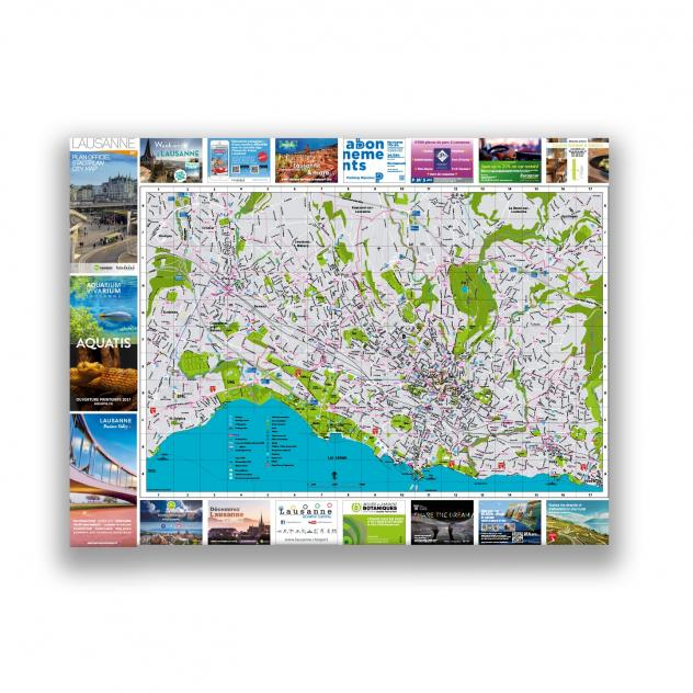 Street Map Lausanne Tourisme - Lausanne city map
