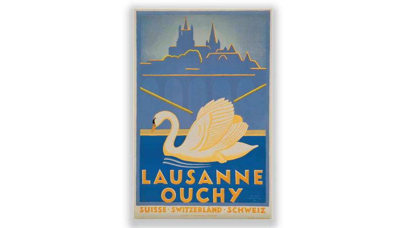 Vintage posters Lausanne Ouchy - © Artiste: René Martin