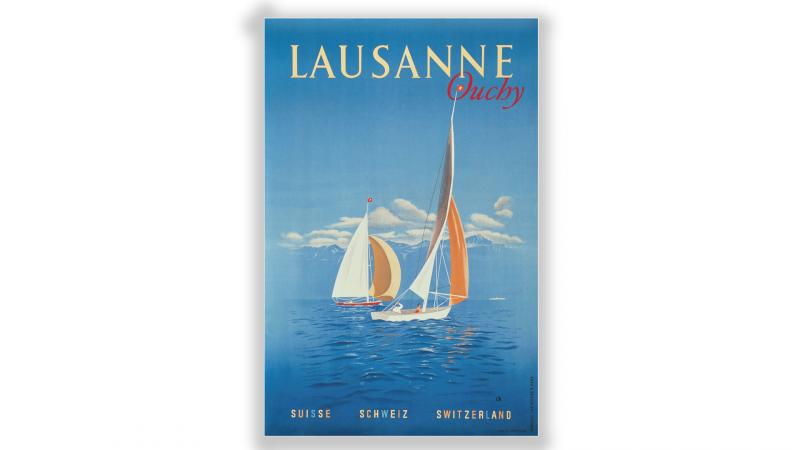 Vintage posters Lausanne Ouchy - © Artiste: Charles Kuhn