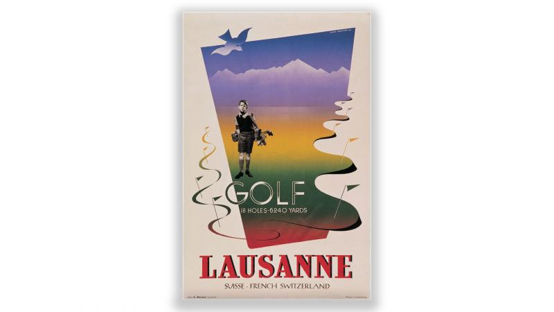 Vintage posters Golf Lausanne - © Artiste: Jean Walter