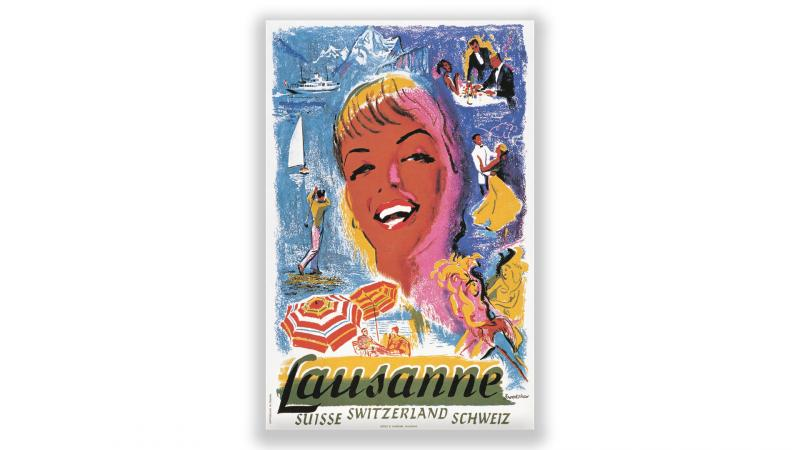 Vintage posters Lausanne - © Artiste: Percy Drake Brookshaw