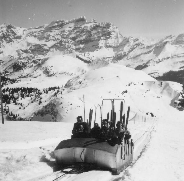 When did skiing begin in Switzerland?