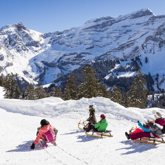 Sledding slope Les Diablerets