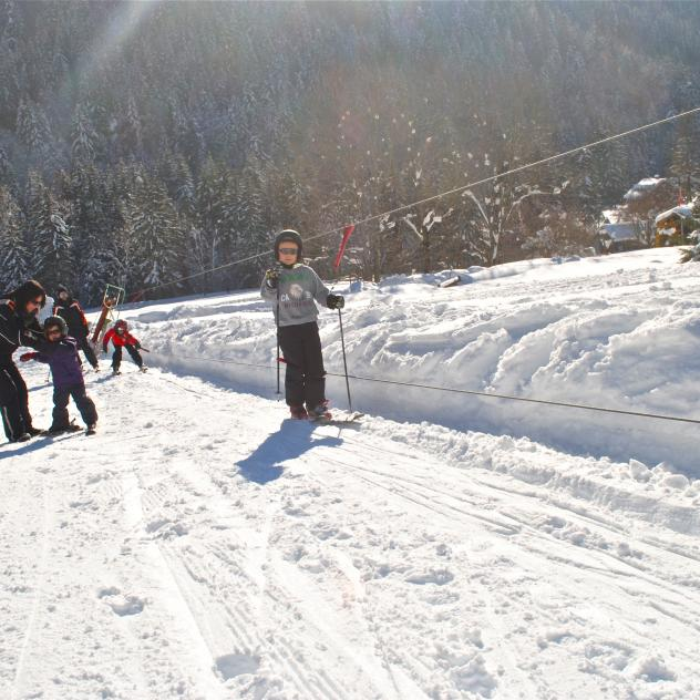 Rope tow in Les Plans-sur-Bex