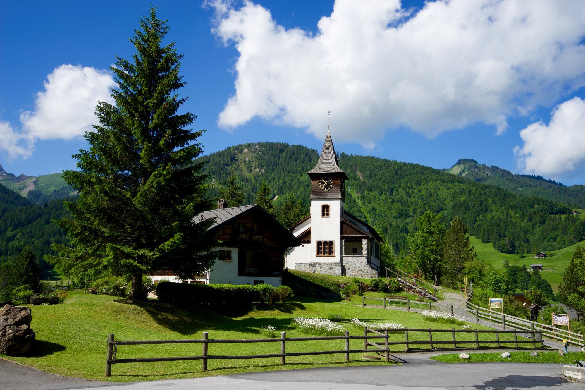 F te de l 39 eglise des diablerets villars gryon les diablerets bex suisse - Office tourisme diablerets ...