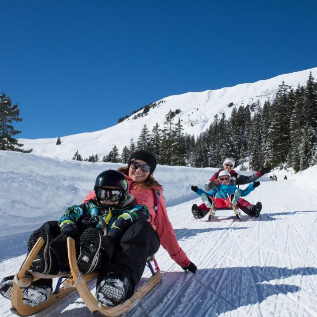 Sledge rental in Les Diablerets