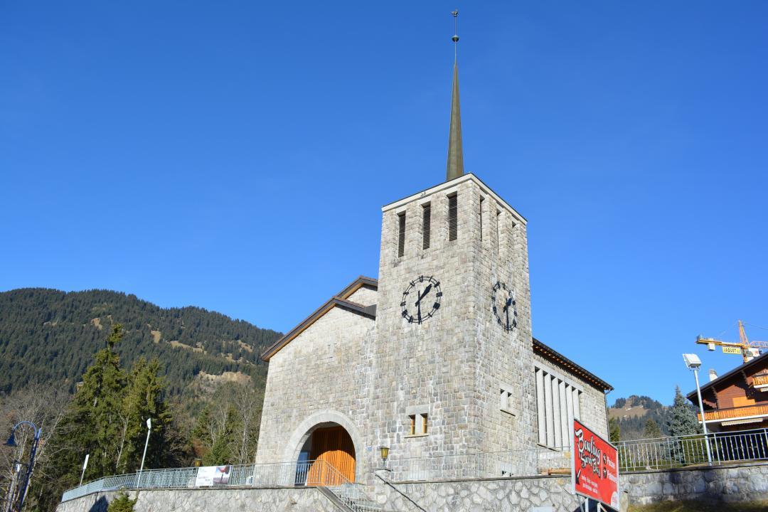Reformierte kirche tempel von villars villars gryon les diablerets bex schweiz - Office tourisme diablerets ...