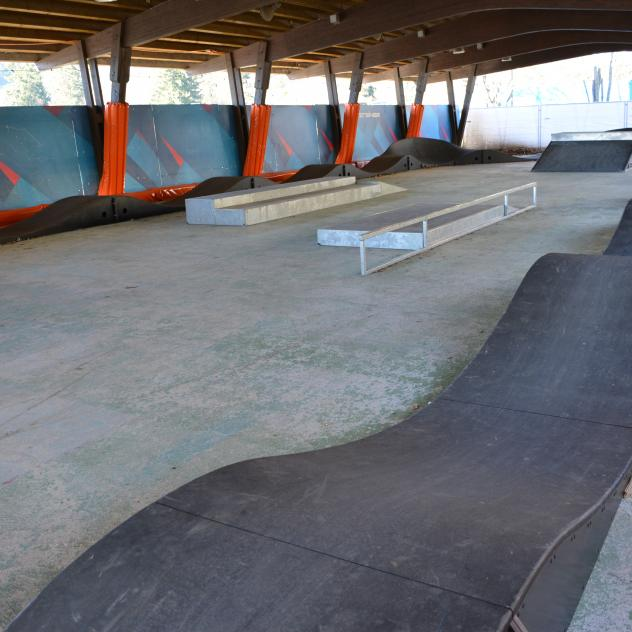 Pumptrack und Skatepark in Villars