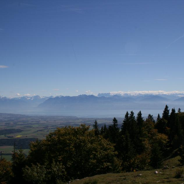 Walk to the point of view of the Croix de Châtel