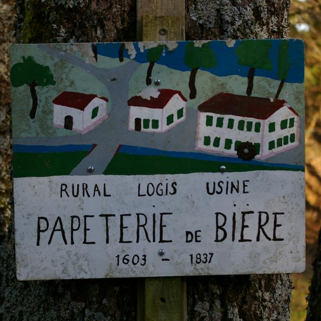 Bière - Stroll of paper mill, tile factory, martinet and mill