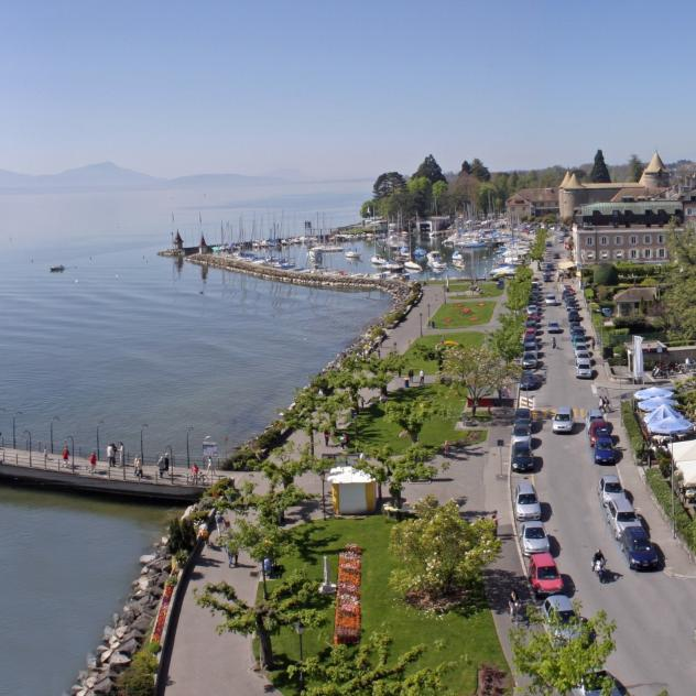 The quays of Morges