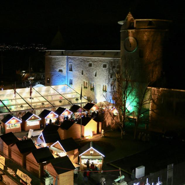 Christmas market in the castle of Morges