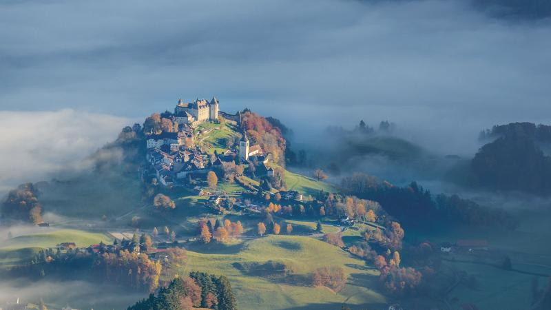 Gruyères in autumn