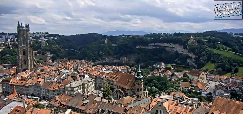 Webcam dans la ville de Fribourg. (Sarine)