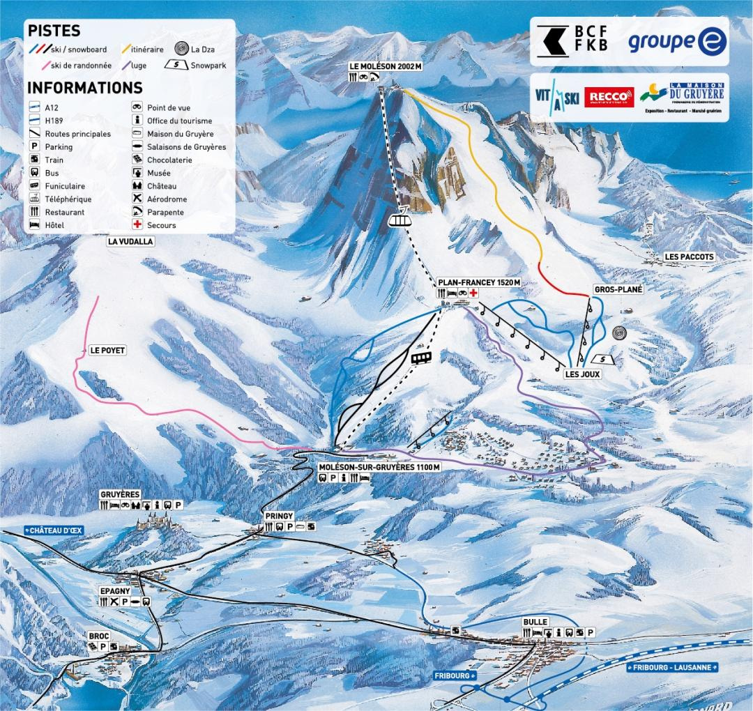 Slopes map Moléson