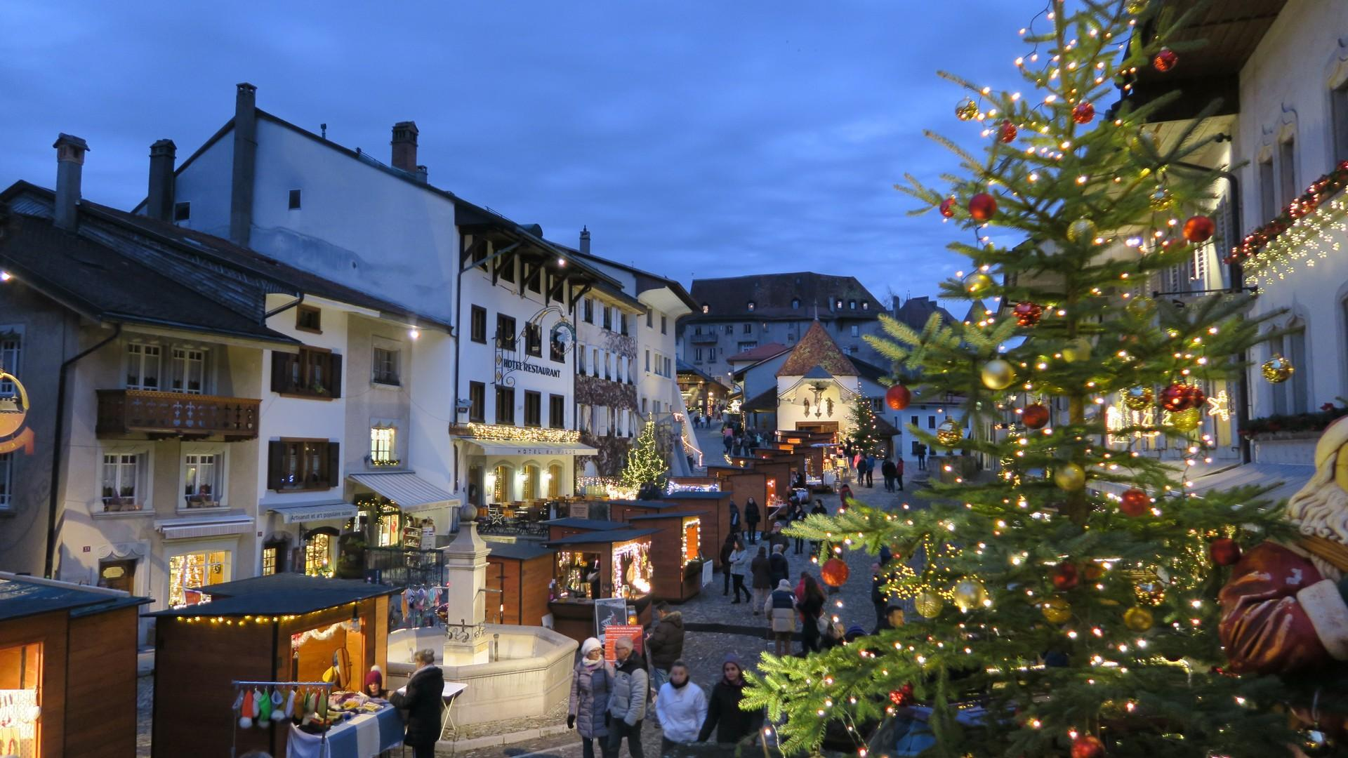 Christmas market in Gruyères