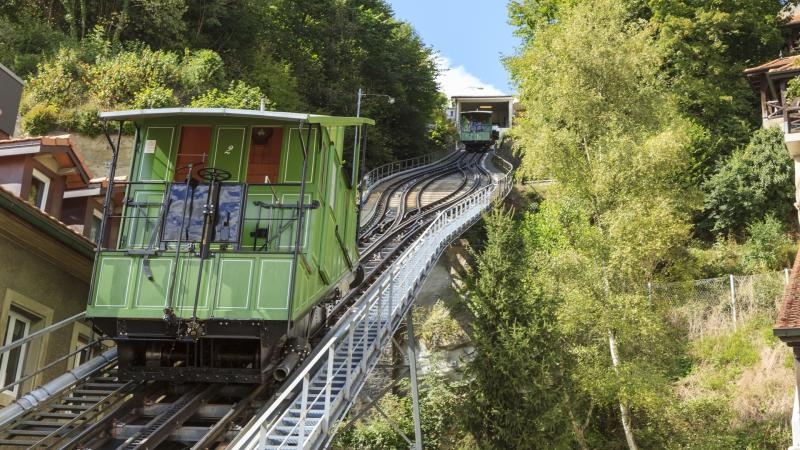 The funicular of Fribourg
