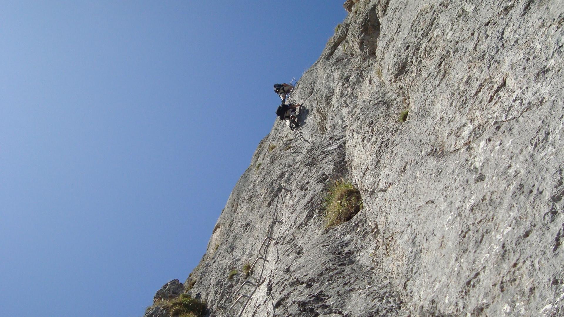 Klettersteig Schweiz : Pinut klettersteig in flims schweiz todayis