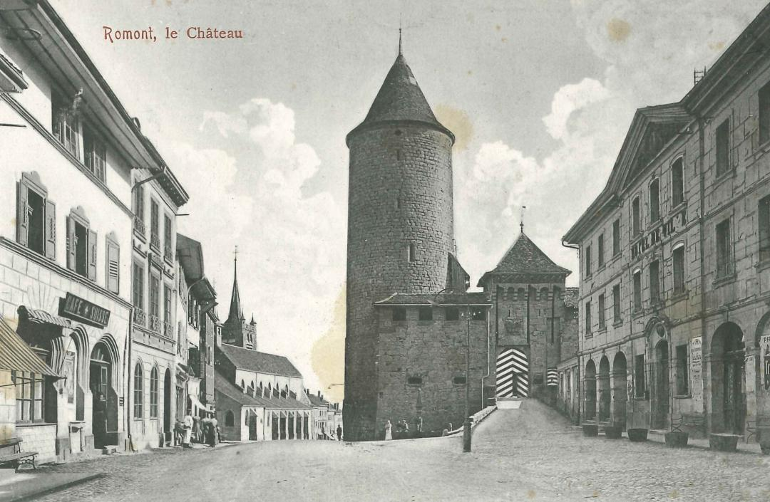 Castle of Romont around 1900