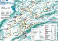 Cross-country skiing map Franches-Montagnes